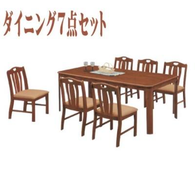 ダイニングテーブルセット 6人掛け テーブル幅180cm ダイニングテーブル x1 ダイニングチェア x6 ダイニング 7点セット 北欧 モダン ラバーウッド