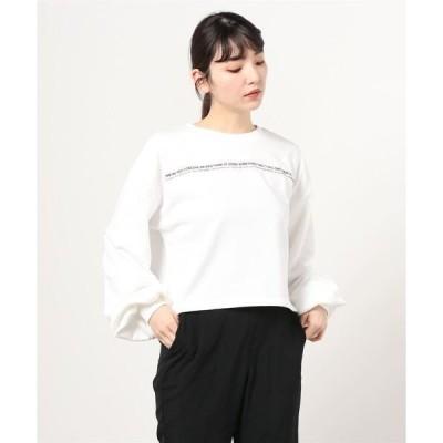tシャツ Tシャツ 【2021新作】ロゴラインスウェットショートトップス