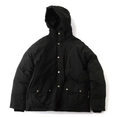 アウトドアジャケット gym master ドロップポケットナイロンマンパー L 05(ブラック)