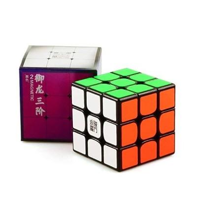 cuberspeed YJ Yulong V2 M 3x3 Black Speed Cube YJ Yulong 2M Magnetic Magic Cube Puzzle