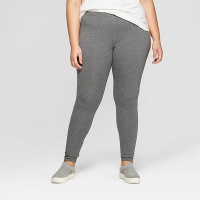 アヴァ&ヴィヴィ Ava & Viv レディース スパッツ・レギンス 大きいサイズ インナー・下着 Plus Size Mid-Rise Ankle Length Leggings - Gray