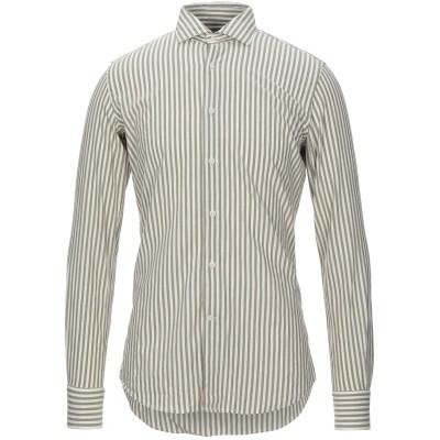 グランシャツ GLANSHIRT シャツ ミリタリーグリーン 38 コットン 88% / ウール 12% シャツ