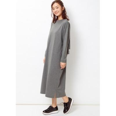 【大きいサイズ】 バックフリルスウェットワンピース ワンピース, plus size dress