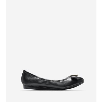 コールハーン Colehaan アウトレット レディース シューズ 靴 バレエ & フラット エモリー ボウ バレエ II womens W09917 ブラック レザー