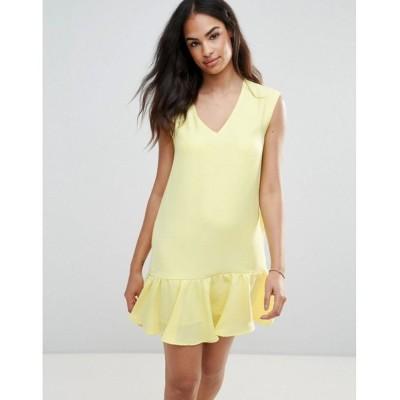 フレンチ レディース ワンピース ワンピース・ドレス Pep Hem Dress Yellow