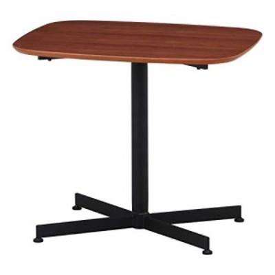 【送料無料】不二貿易 リビングテーブル 幅70cm ブラウン コンパクト ぐらつき調節 カフェ風 レグナ 98930
