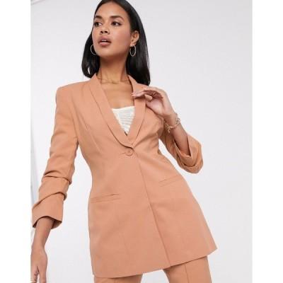エイソス レディース ジャケット&ブルゾン アウター ASOS DESIGN Hourglass mix & match suit blazer Blush