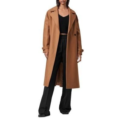オールセインツ レディース ジャケット・ブルゾン アウター Wilma Double Breasted Wool Blend Coat