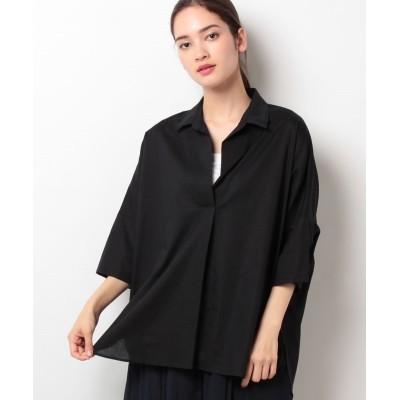 【アルアバイル】 アサコンスキッパービッグシャツ レディース ブラック 02 allureville