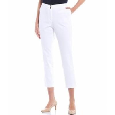 トミー ヒルフィガー レディース カジュアルパンツ ボトムス Hollywood Button From Slim Pants White