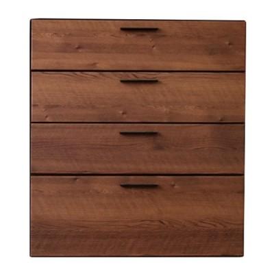 チェスト 4段 北欧風 キッチン収納 組み合わせタイプ 幅80cm ( キッチン キッチンボード リビング収納 日本製 完成品 )