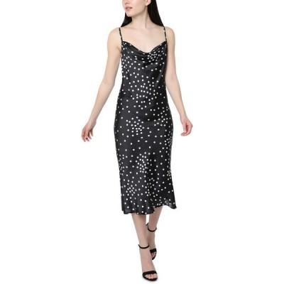 ベベ レディース ワンピース トップス Satin Polka-Dot Slip Dress