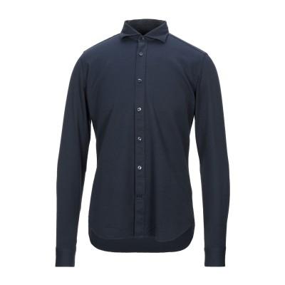 CALIBAN 820 シャツ ダークブルー 40 コットン 100% シャツ