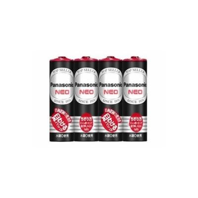 パナソニック マンガン乾電池 ネオ黒 単三型(1.5V)4本組 R6PNB/4VSE 1ケース100パック(400本)