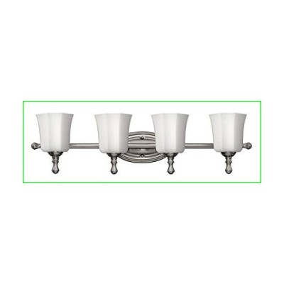Hinkley Shelly Collection Traditional Four Light Bathroom Vanity Fixture, Brushed Nickel