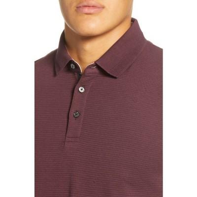 テッドベーカー メンズ ポロシャツ トップス Terned Long Sleeve Knit Polo DEEP PURPLE