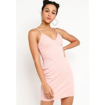 サムシングボロウド Something Borrowed レディース パーティードレス ワンピース・ドレス Spaghetti Strap Rib Dress Dusty Pink