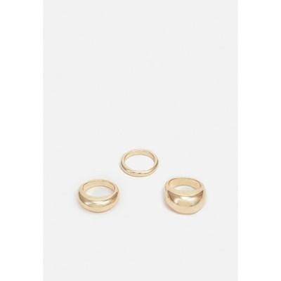 ウィークデイ リング レディース アクセサリー AMINA 3 PACK - Ring - gold-coloured