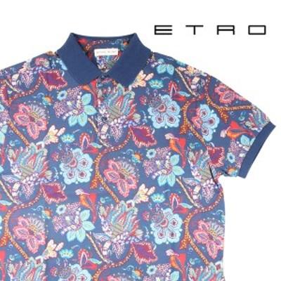 ETRO(エトロ) 半袖ポロシャツ 1Y800-4057 ネイビーマルチカラー M 23072nv 【A23073】