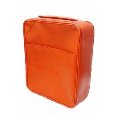 【中古】ルイヴィトン LOUIS VUITTON 美品 キャリーバッグ ぺガス45 エピ オレンジ 旅行鞄 /0 /Z メンズ レディース