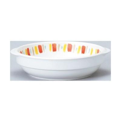 ダイヤセラム(強化) オレンジ十草 スタック グラタンM グラタン皿 Dia Ceram 10個入/業務用/新品