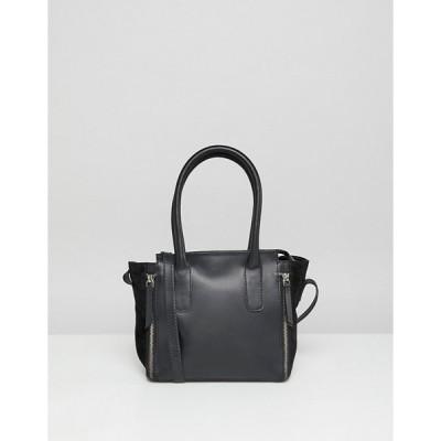 エイソス レディース  ハンドバッグ バッグ ASOS ASOS DESIGN leather and suede mini tote bag with zip detail