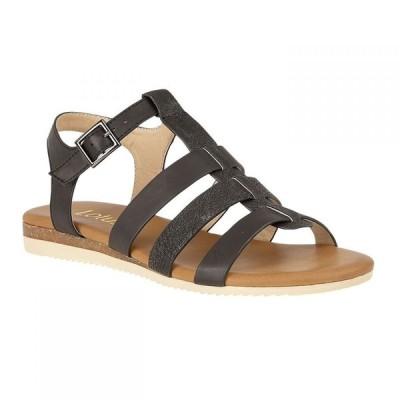 ロータス Lotus Shoes レディース サンダル・ミュール オープントゥ フラット シューズ・靴 Kinsey Flat Open-Toe Sandals Black