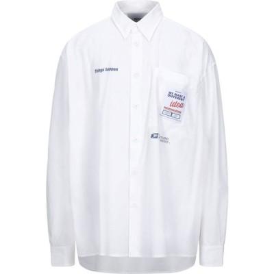 ボンサイ BONSAI メンズ シャツ トップス solid color shirt White