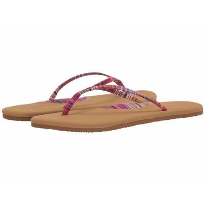 フロホース サンダル シューズ レディース Hula Textile Strap Thong Sandal Fuchsia/Tan