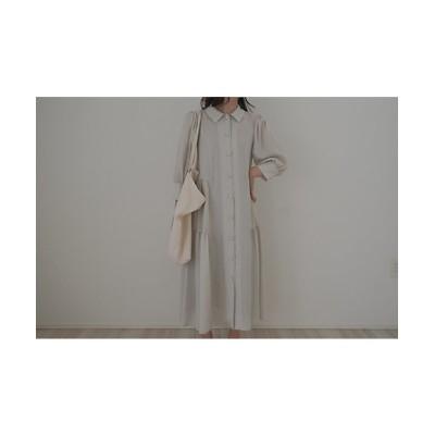 <june little closet(Baby&Kids)/ジューン リトルクローゼット> ladies Shirt dress soy cream【三越伊勢丹/公式】