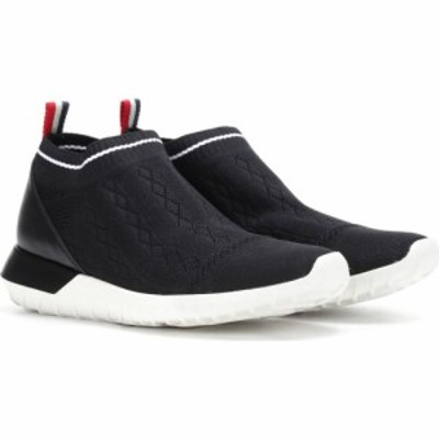 モンクレール Moncler レディース スリッポン・フラット シューズ・靴 giroflee sock sneakers Black