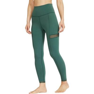 ナイキ レディース レギンス Nike Yoga Lace 7/8 Tights タイツ ヨガ フィットネス PRO GREEN