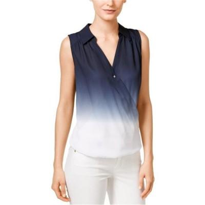 レディース 衣類 トップス I-N-C Womens Ombre Wrap Blouse Blue 10 ブラウス&シャツ