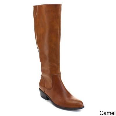 ブーツ シューズ 靴 海外厳選ブランド レディース Pointed Toe Side ジップ ニーハイ Stacked Chunky ブーツ TRECE-1 CAMEL