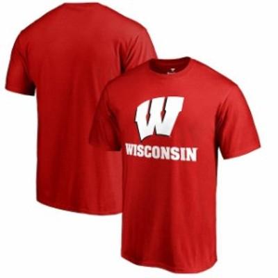 Fanatics Branded ファナティクス ブランド スポーツ用品  Fanatics Branded Wisconsin Badgers Team Lockup Red Big & Tall T-Shirt