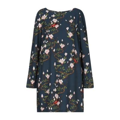 POUR?UOI ME ミニワンピース&ドレス ブルーグレー S ポリエステル 100% ミニワンピース&ドレス