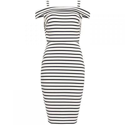 フェイズ エイト Phase Eight レディース ワンピース ワンピース・ドレス Shauna Striped Bardot Dress Black/Blue