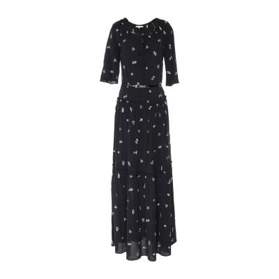 パトリツィア ペペ PATRIZIA PEPE ロングワンピース&ドレス ブラック 38 レーヨン 100% ロングワンピース&ドレス