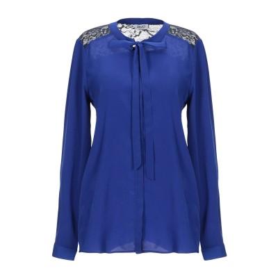 リュー ジョー LIU •JO シャツ ブルー 48 ポリエステル 100% シャツ