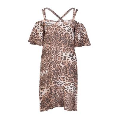 MIKI THUMB ミニワンピース&ドレス ブラウン S シルク 100% ミニワンピース&ドレス