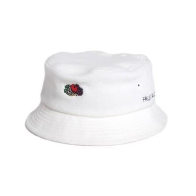 MAISON mou / 【FRUIT OF THE LOOM/フルーツオブザルーム】 FLEECE LOGO EMB LOW BUCKET HAT/フリース刺繍バケットハット WOMEN 帽子 > ハット