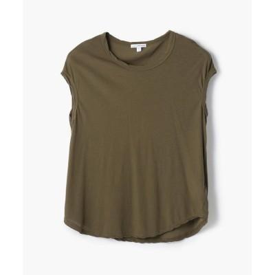 (JAMES PERSE/ジェームス パース)ハイゲージ クルーネックTシャツ WEK3356/レディース 58ダークグリーン系