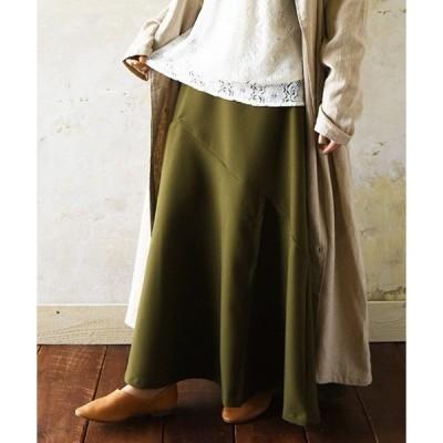 スカート ジャージーツイルマーメイドフレアスカート