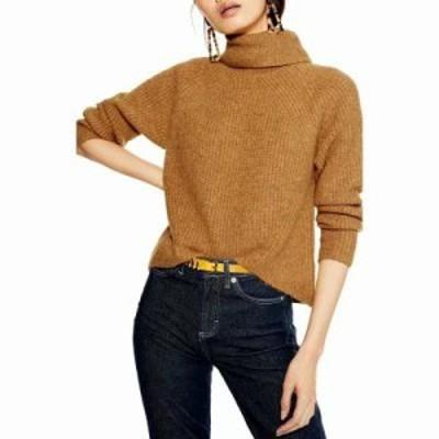 トップショップ ニット・セーター Turtleneck Sweater Camel