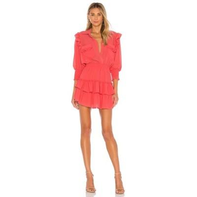 ミサロサンゼルス MISA Los Angeles レディース ワンピース ワンピース・ドレス Riona Dress Coral