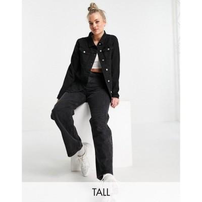 ブレーブソール レディース ジャケット&ブルゾン アウター Brave Soul Tall fielding denim jacket in black Black