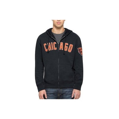 フットボール NFL フォーティーセブン '47 Chicago Bears Navy Striker Full-Zip Hoodie