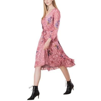 ヘイルボブ ワンピース トップス レディース Hale Bob Silk-Blend Tie-Waist Dress coral