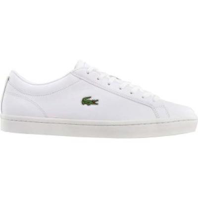 ラコステ メンズ スニーカー シューズ Straightset Lace Up Sneakers White
