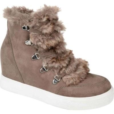 ジュルネ コレクション Journee Collection レディース ブーツ ウェッジソール シューズ・靴 Comfort Foam(TM) Madge Wedge Bootie Taupe
